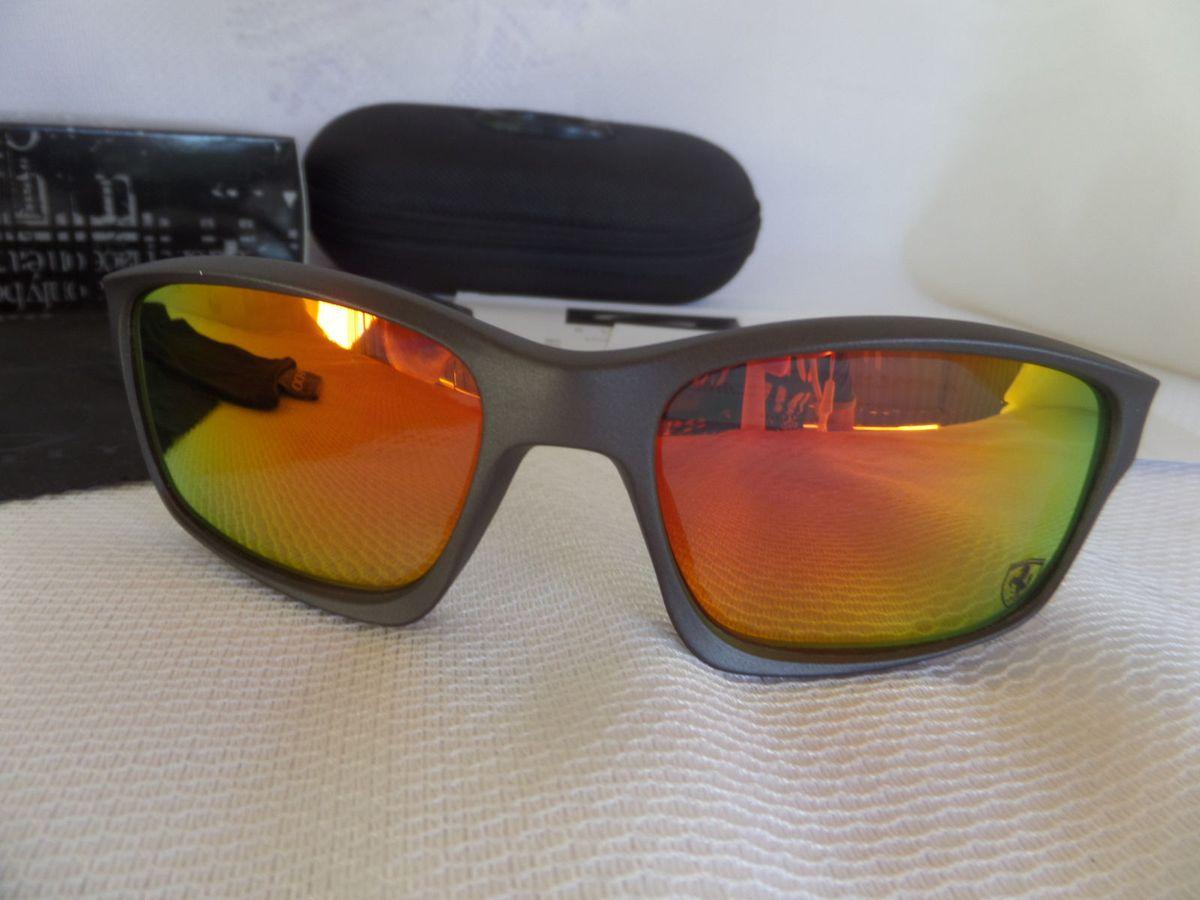 oakley chainlink scuderia ferrari c  lente red iridium polarizada - edição  limitda - óculos oakley 2c660b7372