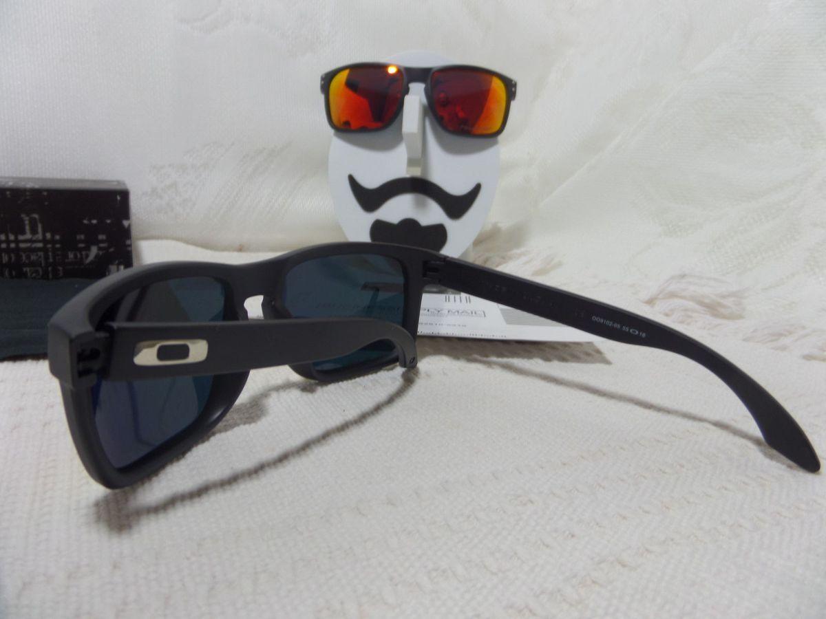 49687dc972020 Oakley Holbrook Preto com Lentes Vermelha Rubi com Logo Prata - Original    Óculos Masculino Oakley Nunca Usado 17602411   enjoei