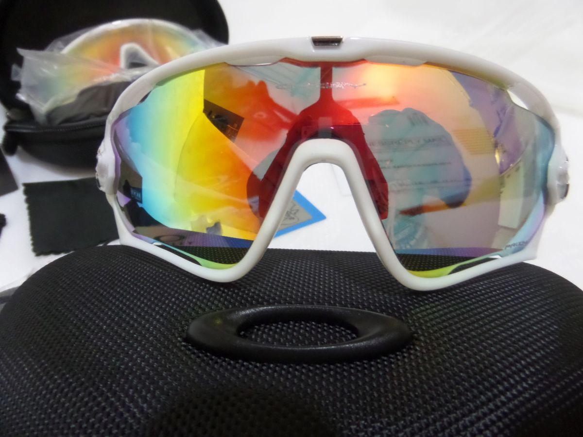 f342002b12d59 oakley jawbreaker branco prizm road c  3 lentes reserva - original - óculos  oakley