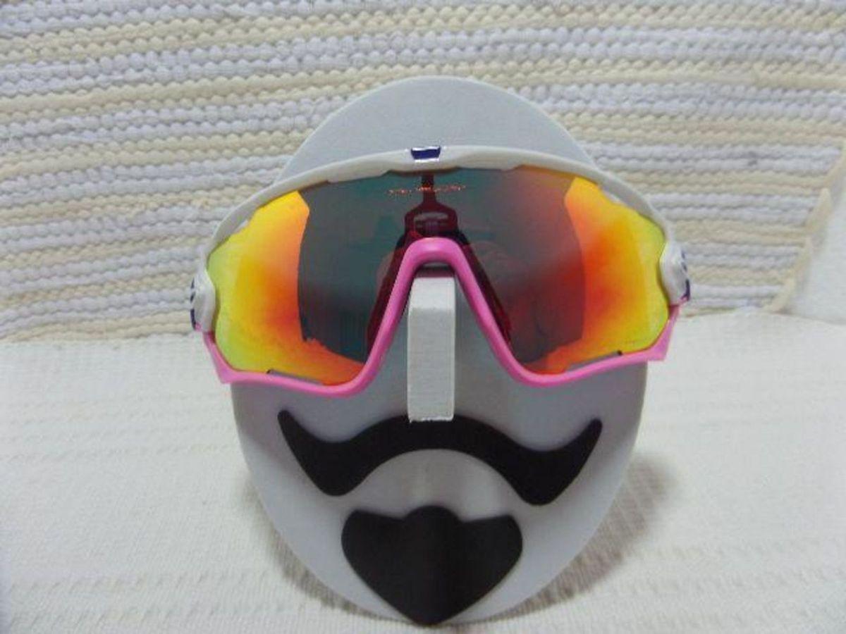2a02ed1083344 oakley jawbreaker branco rosa com e 4 lentes reserva - eclusividade - óculos  oakley