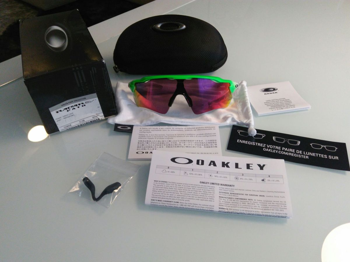 1cae0a266 oakley radar ev path - coleção green fade olimpíadas - lentes prizm -  óculos oakley
