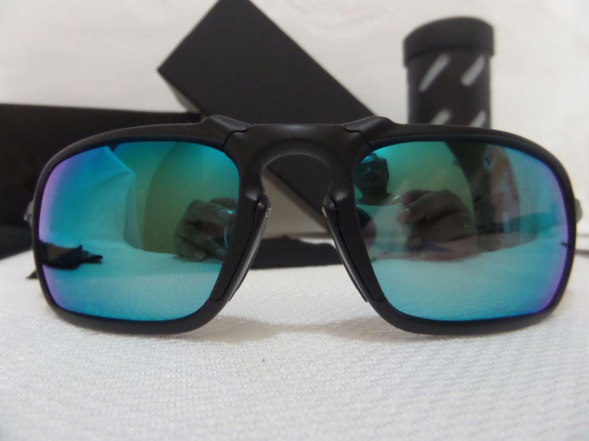 eaa864527bf32 oakley x-metal badman azul grafite polarizado - importado e novo - óculos  oakley