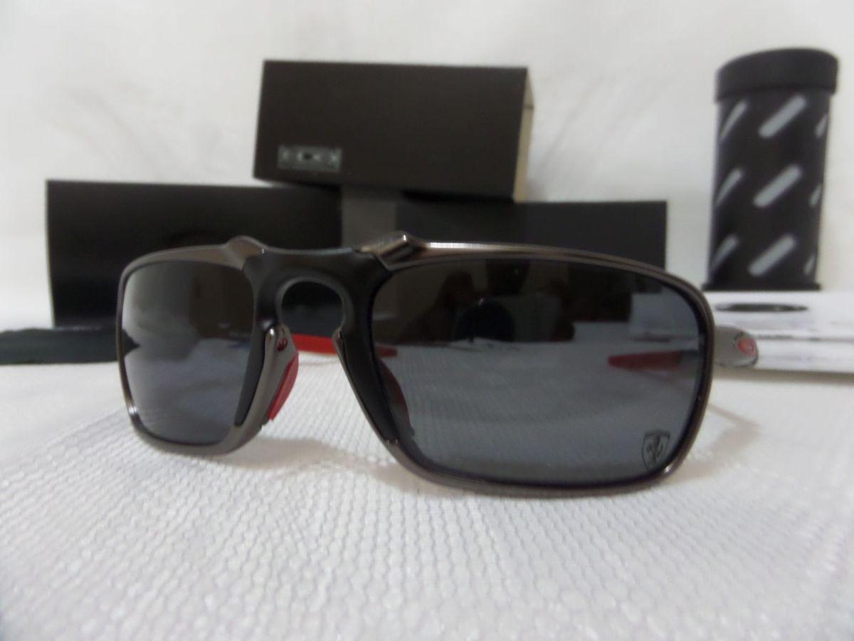 Oakley X-metal Badman Dark Carbon Black Scuderia Ferrari - Edição Limitada    Óculos Masculino Oakley Nunca Usado 15872670   enjoei 2faac08592