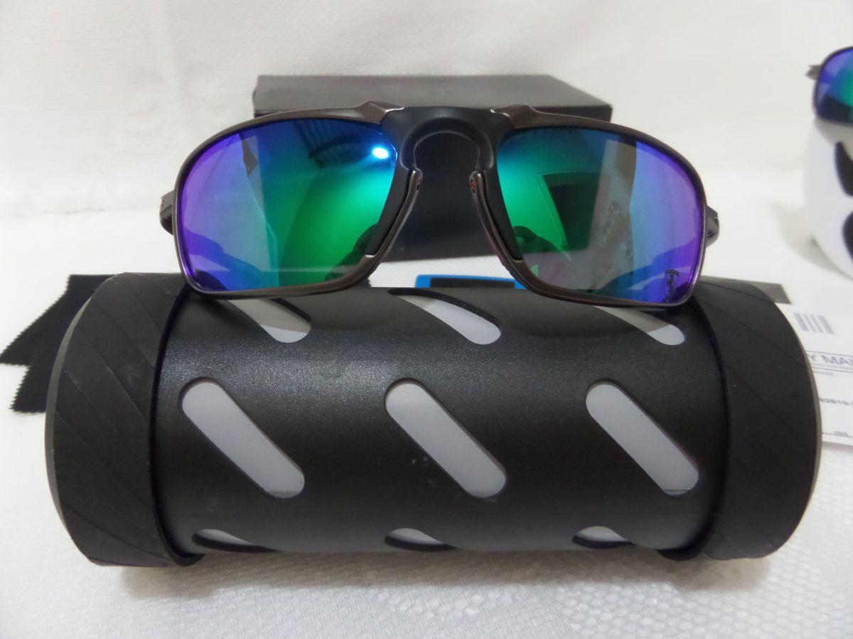 cf56b9278fd25 oakley x-metal badman scuderia ferrari verde grafite polarizado - exclusivo  - óculos oakley