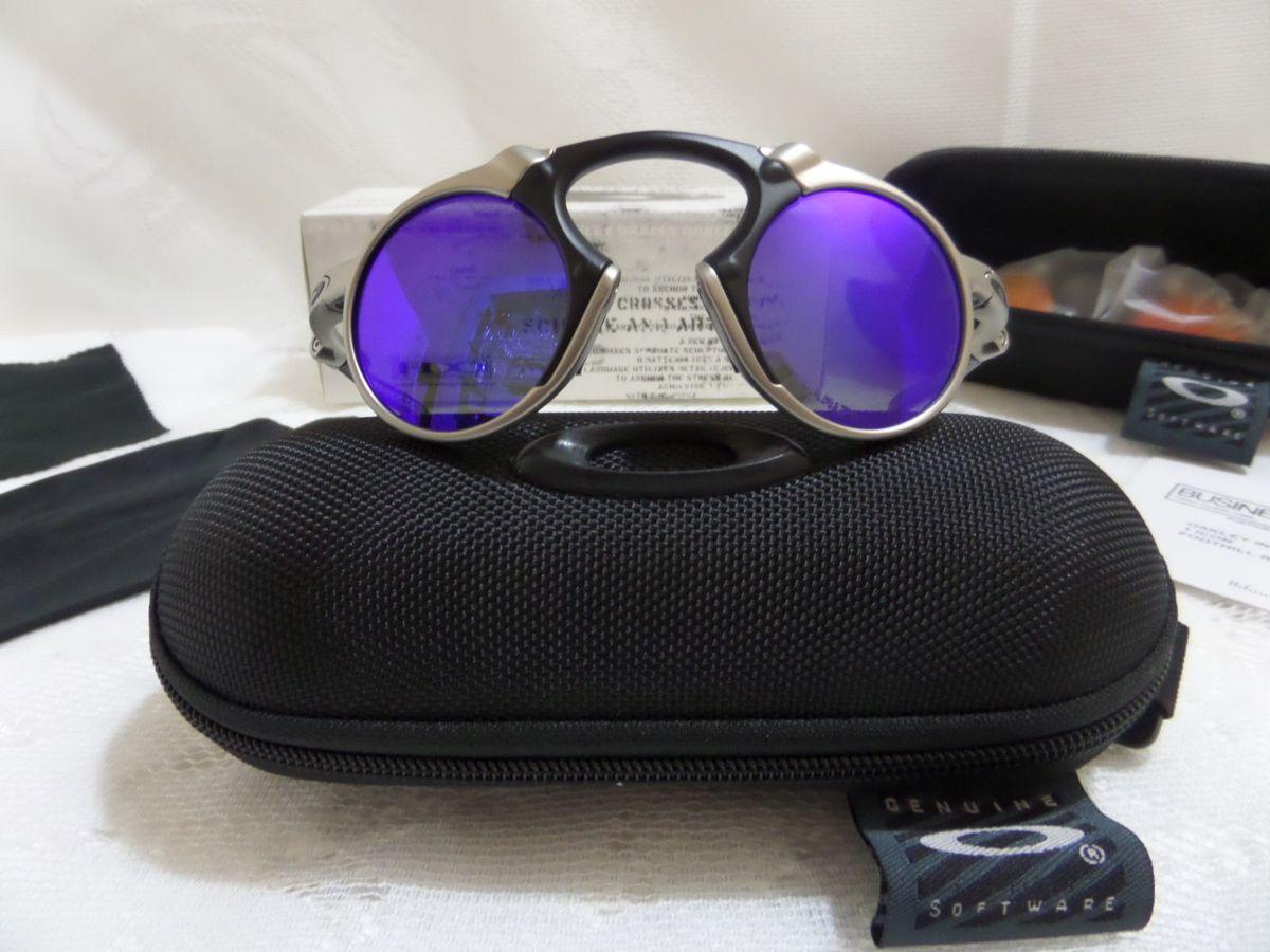 ce23eadd7a069 oakley x-metal madman azul polarizado - original e novo - óculos oakley