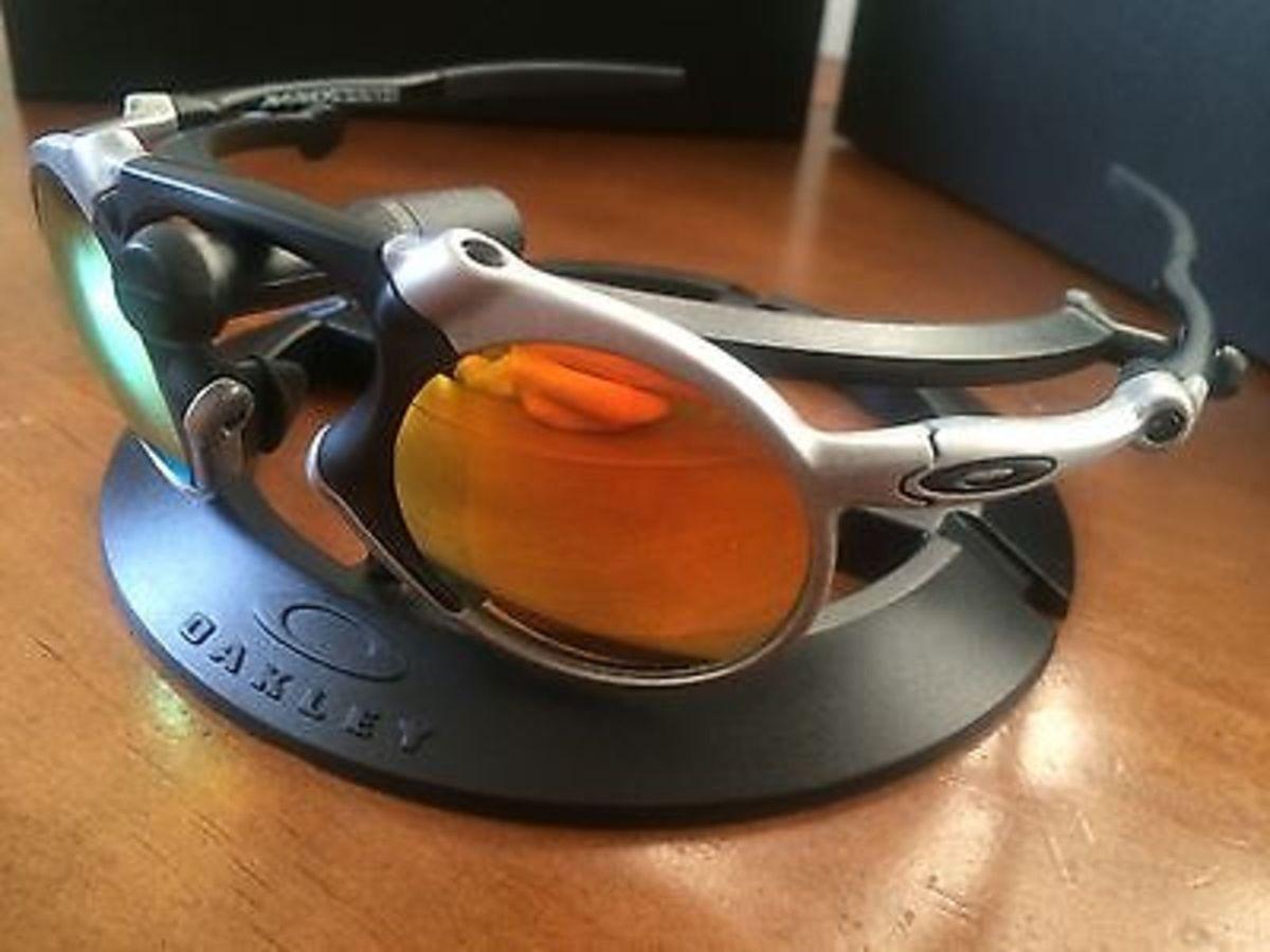 oakley x-metal madman vermelho rubi c  lentes polarizada - original - óculos  oakley fddc4c0c08