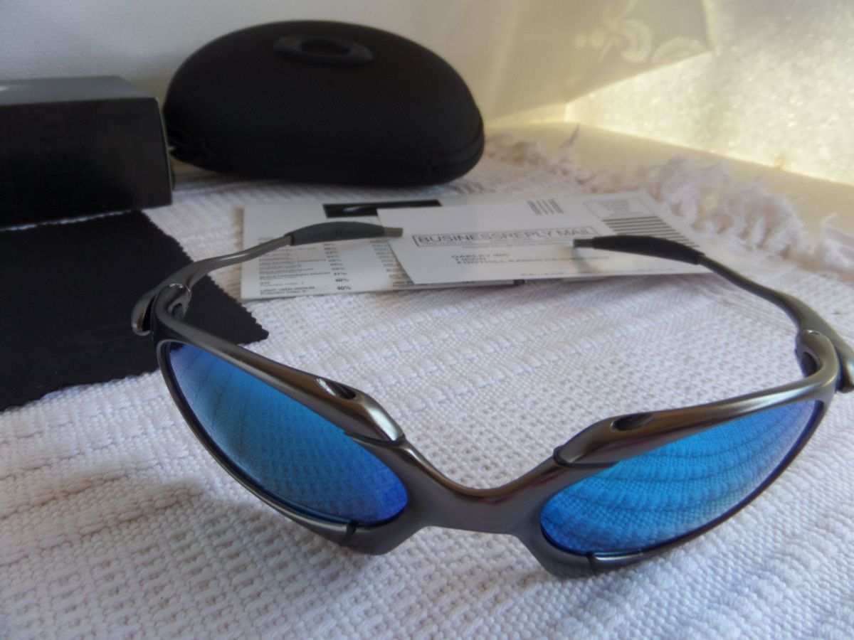 Oakley X-metal Romeo 1.0 Carbon Grafite C  Lente Azul Polarizado - para  Colecionadores   Óculos Masculino Oakley Nunca Usado 16087589   enjoei dfdf338cce