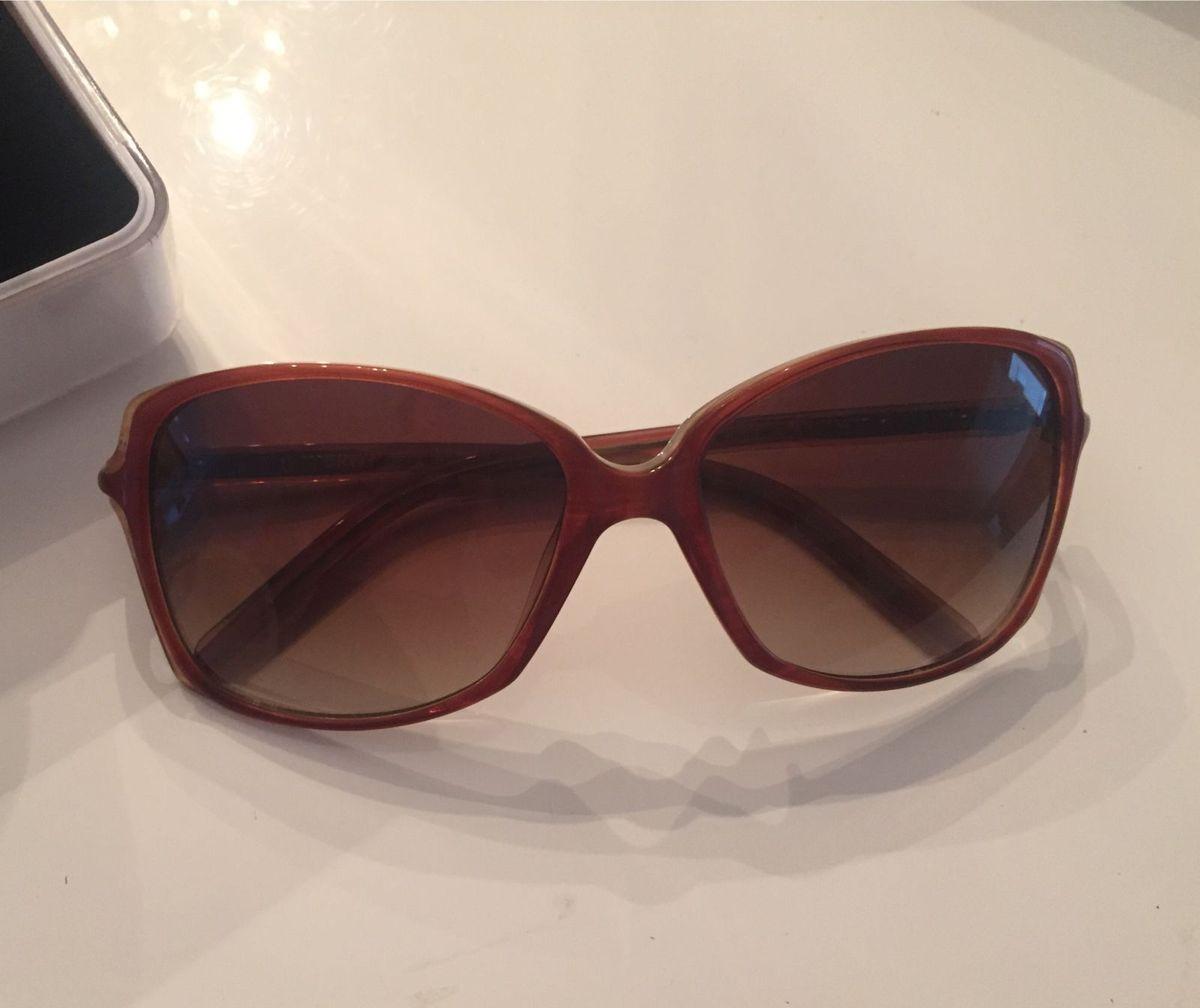 bef196e5e óculos acetato donna karan dkny marrom impecável... - óculos donna karan  new york