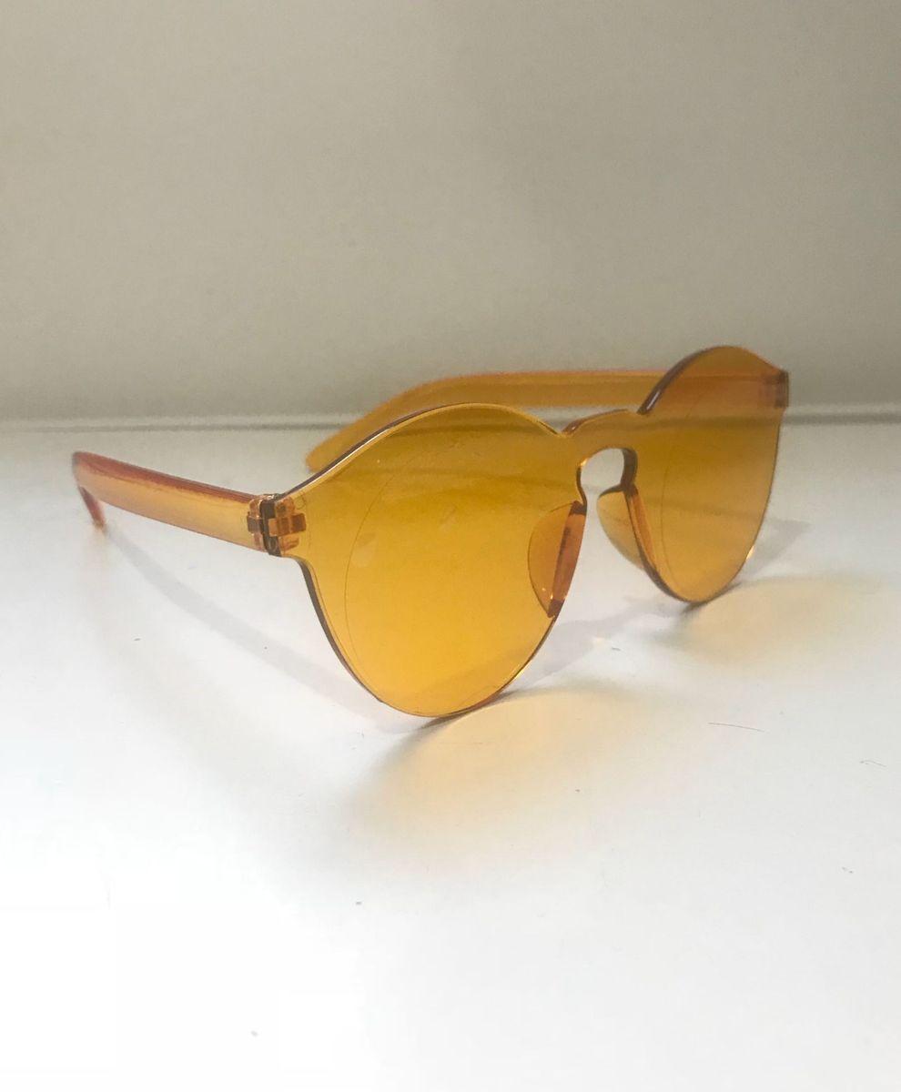 e82d4757ca3a6 Óculos Acrílico Transparente Amarelo   Óculos Feminino Marie Cherry ...