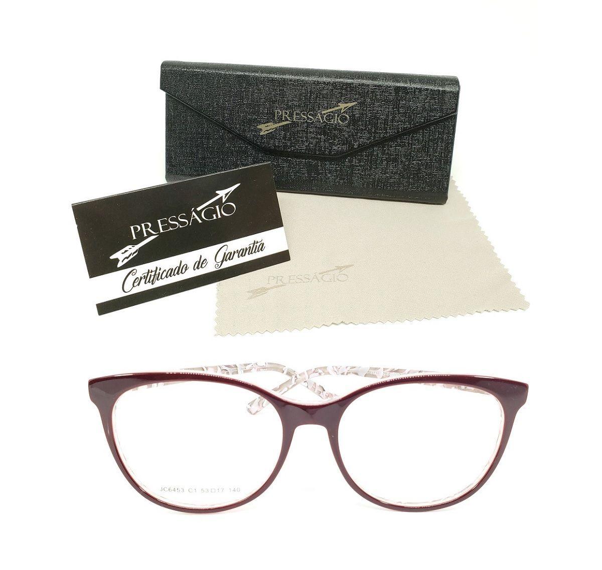 e996d6fd9 óculos armação de grau acetato gatinho geek redondo psg-6453v - óculos  presságio