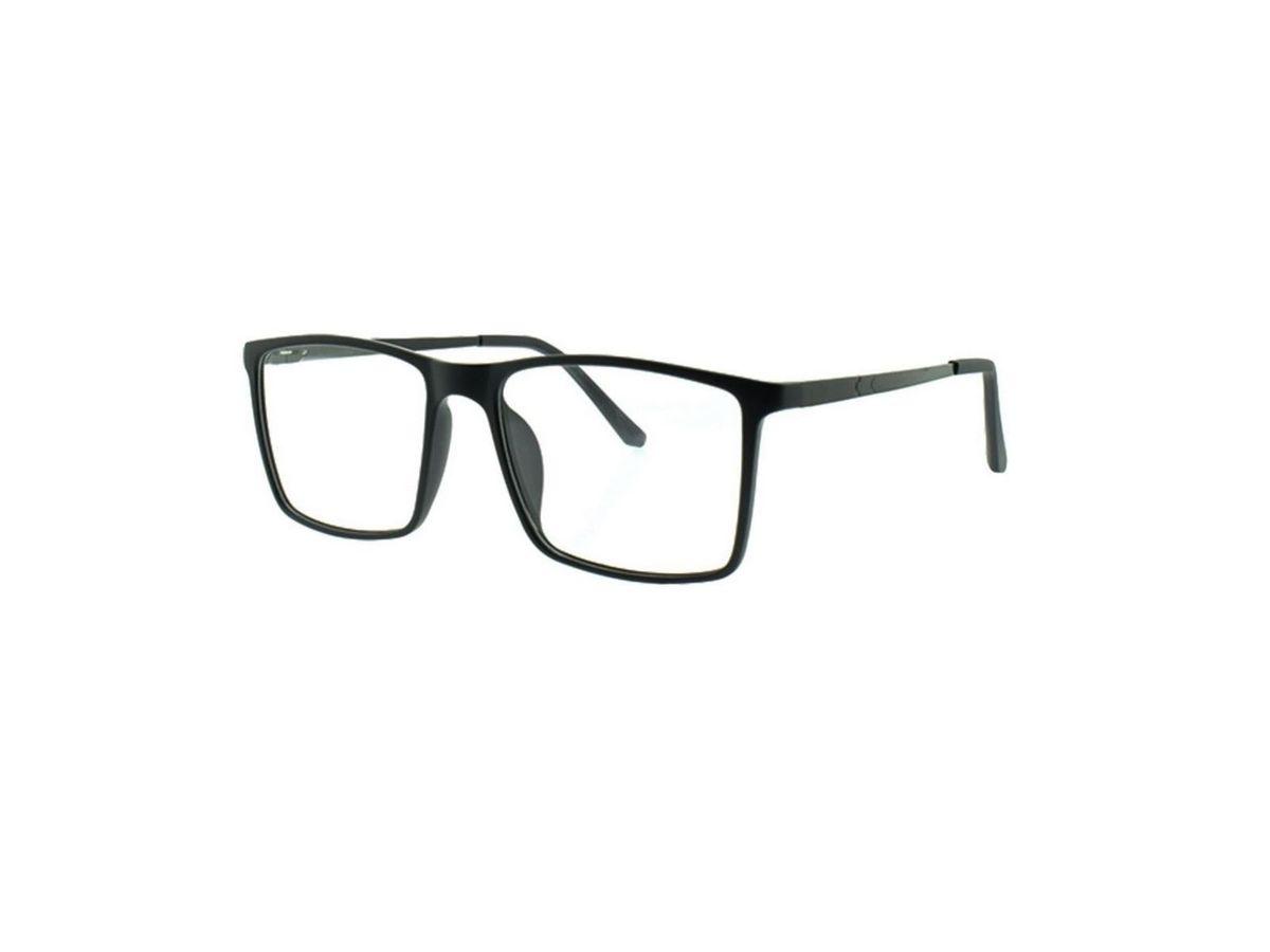 2834685f7 óculos armação de grau masculino quadrado grande nerd geek em tr90 com  hastes flexiveis cor preto