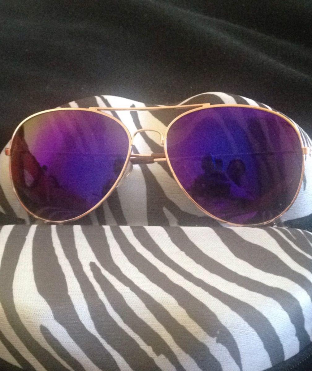 430261951 Oculos Aviador Espelhado Dourado | Óculos Feminino Nunca Usado ...
