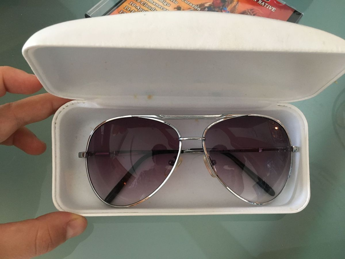 8ed058a8b0538 Óculos Aviador Prata Zara   Óculos Feminino Zara Usado 21645946   enjoei