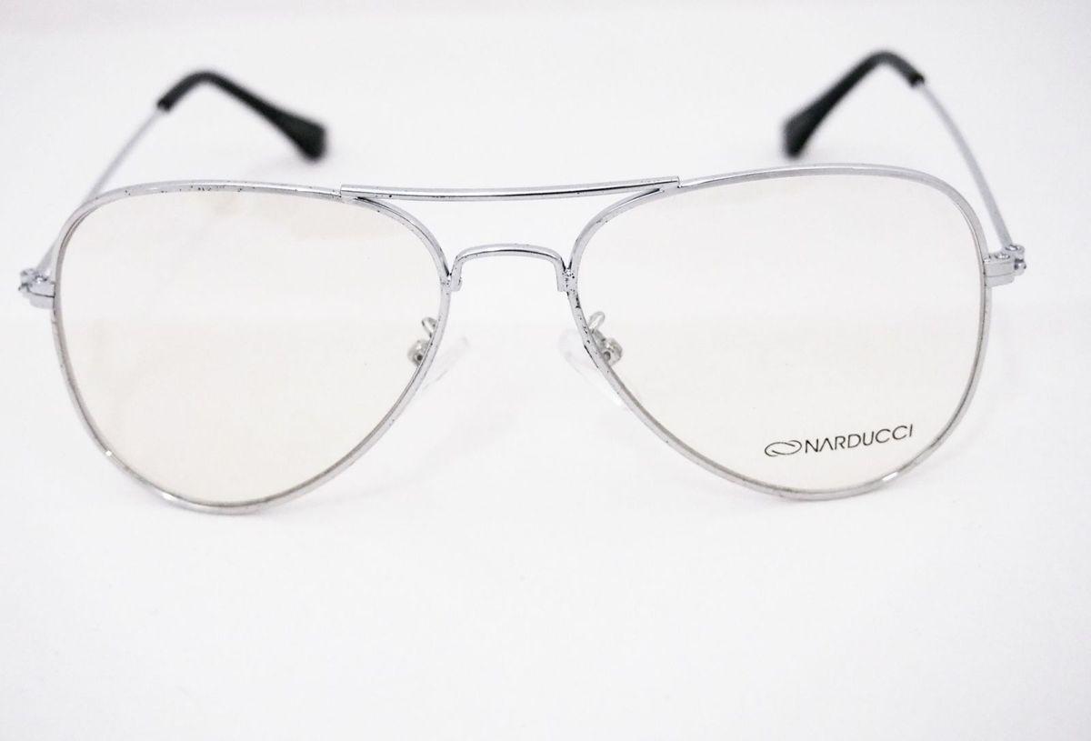 4bb67d2bcf656 óculos aviador prata - óculos sem marca.  Czm6ly9wag90b3muzw5qb2vplmnvbs5ici9wcm9kdwn0cy85ndi3mjkvzgjmndyyzmywyjjhodfhytcxntk4mtk1mzg5ywvmmzkuanbn  ...