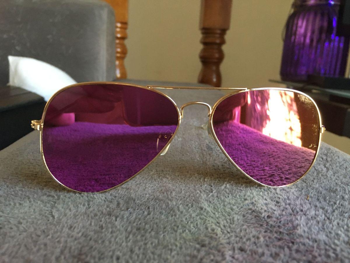 1900bd405 Óculos Aviador Roxo com Dourado | Óculos Feminino Nunca Usado ...