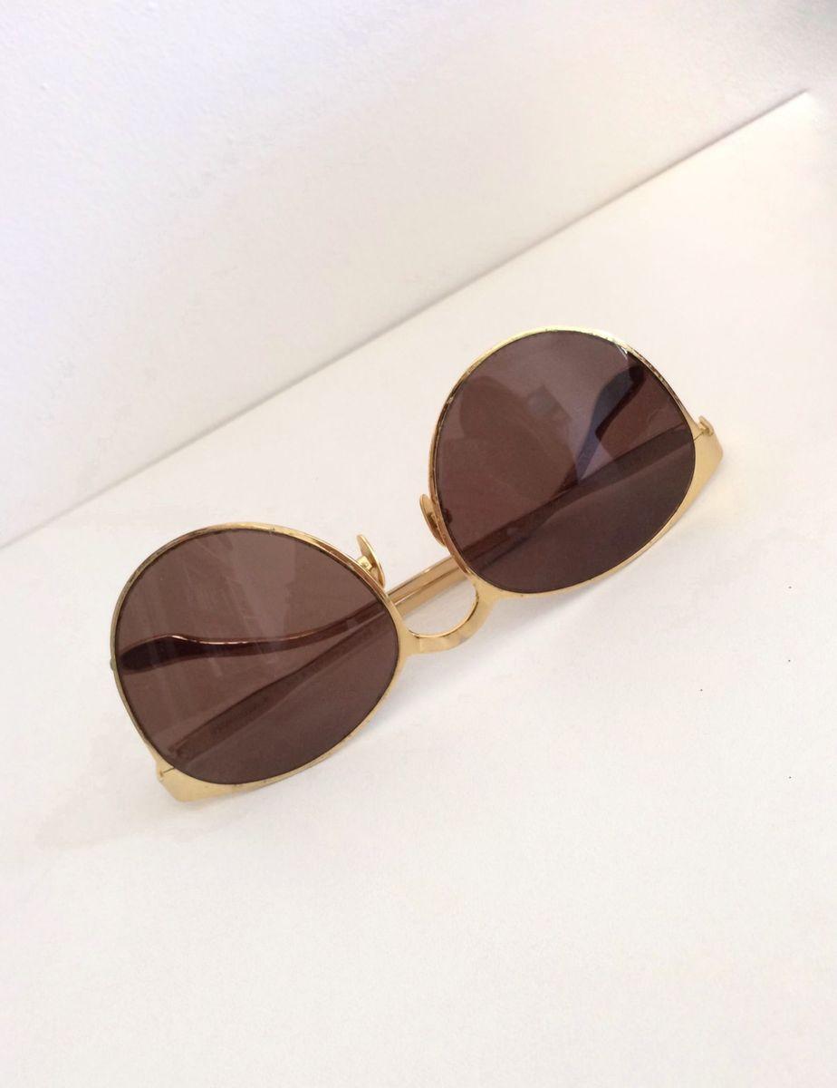 fa707ec3ff25d Óculos Banhado a Ouro   Óculos Feminino Alexandre Herchcovitch Usado ...