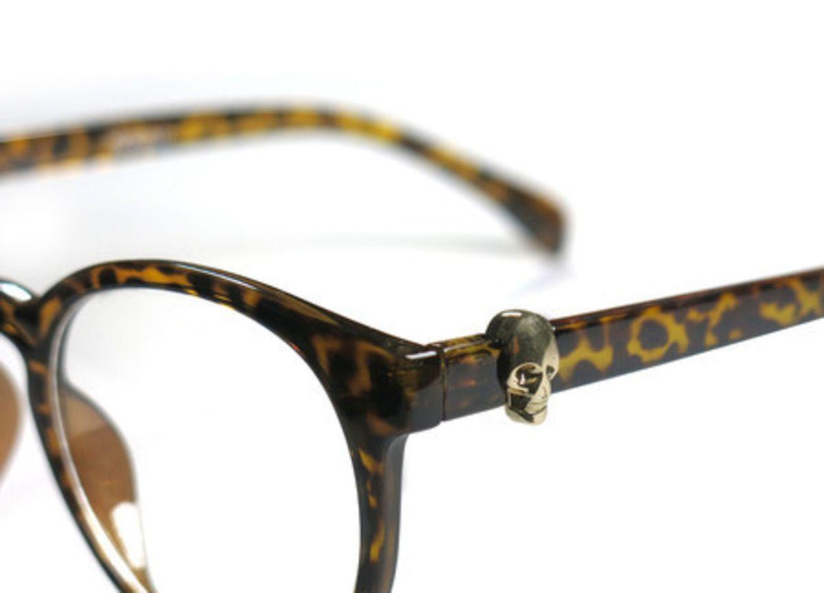 Óculos Caveira Vintage Redondo   Óculos Feminino Clube Da Dondoca Nunca  Usado 1680634   enjoei a15c6cb330