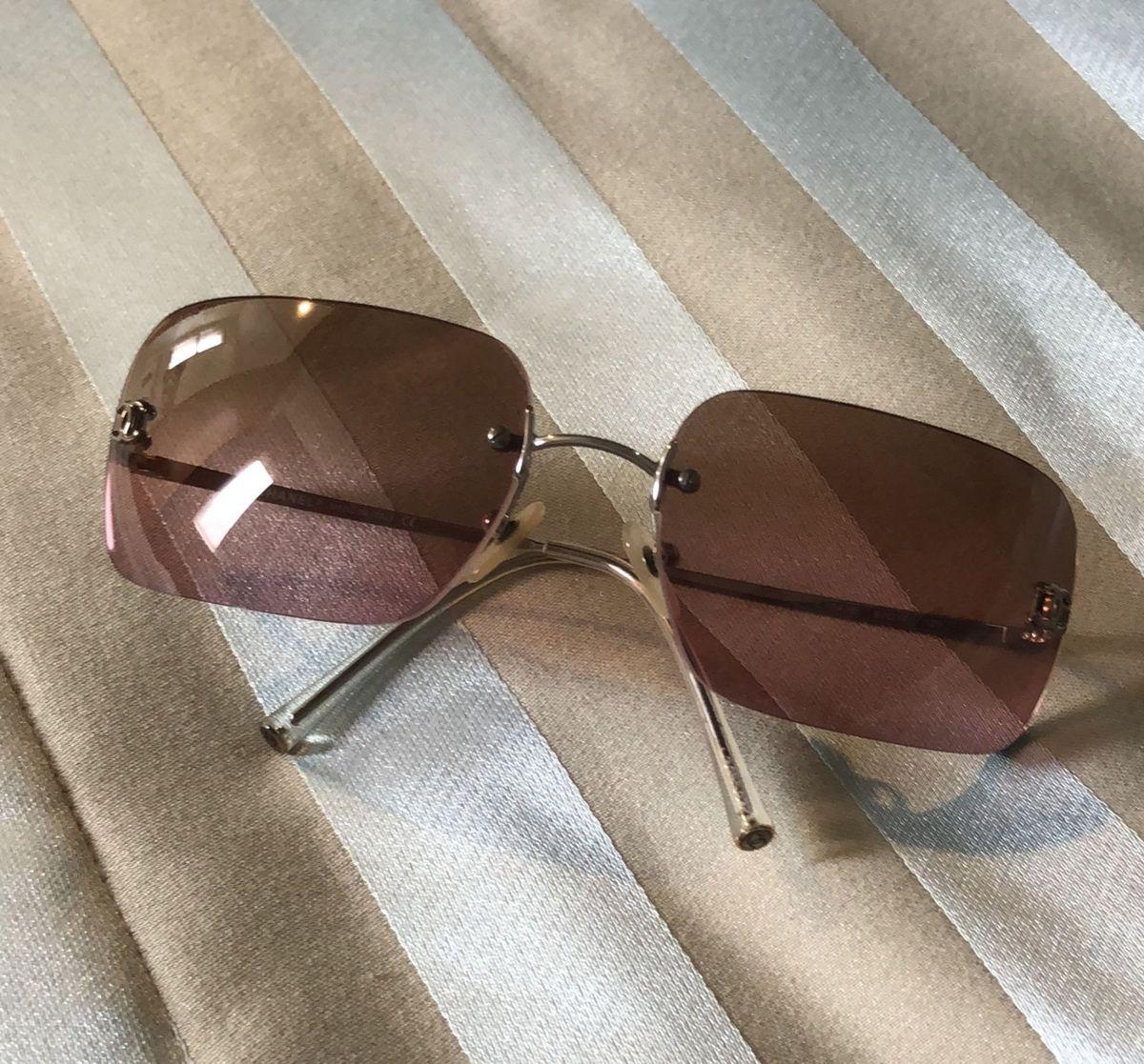f190f8c4cdf93 Oculos Chanel Lente Degradê Transparente   Óculos Feminino Chanel ...