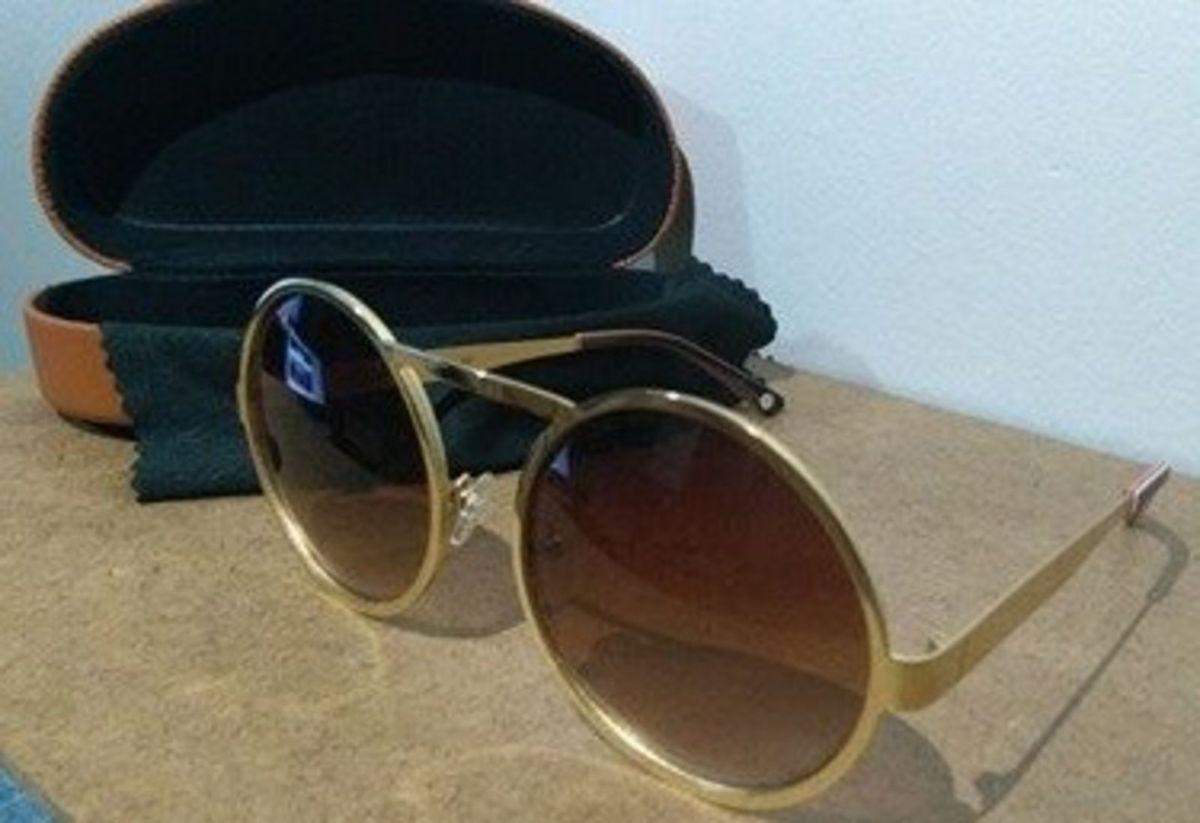 Óculos Chille Beans Herchcovitch Dourado   Óculos Feminino Chilli Beans  Nunca Usado 19407766   enjoei 8c7dd16965