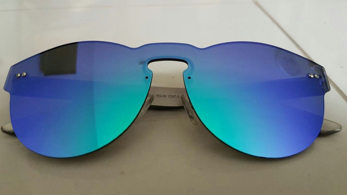 571e23831 óculos chilli beans coleção carlinhos brown espelhado azul - óculos chilli- beans