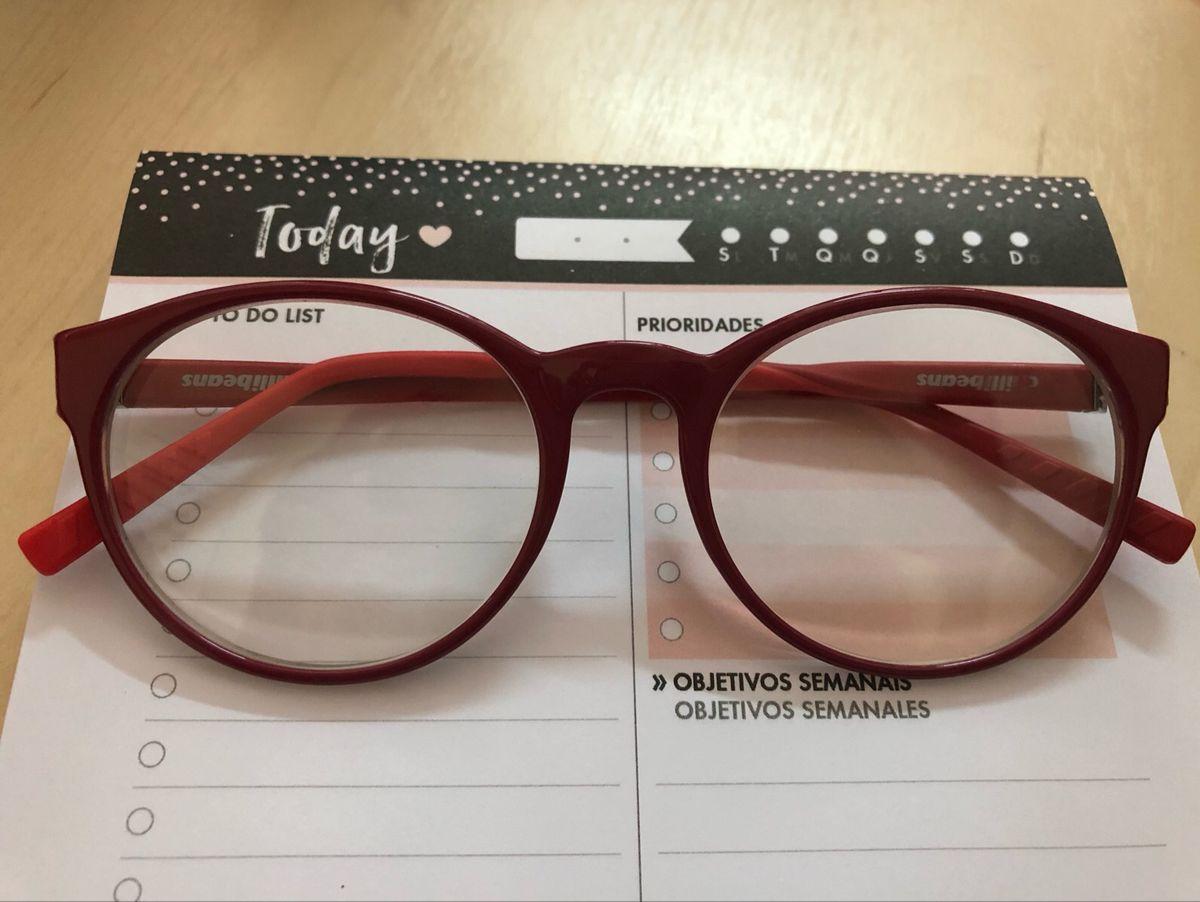 d15f5881b87e6 óculos chilli beans vermelho com estojo. - óculos chilli beans