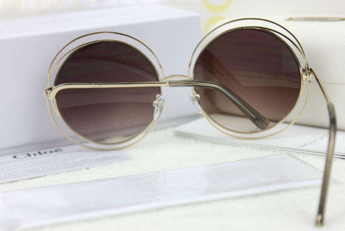 Óculos Chloé Carlina 114 Marrom Degrade   Óculos Feminino Chloe Nunca Usado  19735289   enjoei babcb9acf3