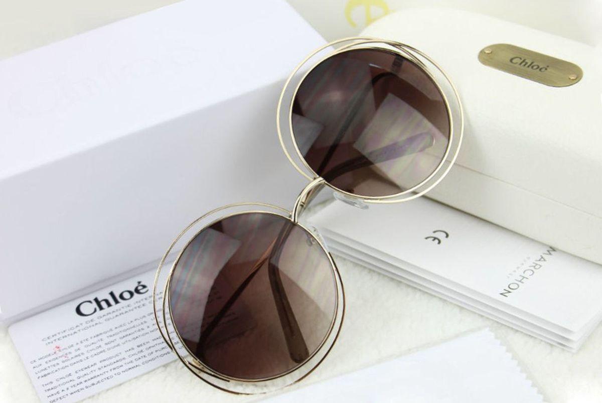 Óculos Chloé Carlina 114 Marrom Degrade   Óculos Feminino Chloe ... 570a3dacd2