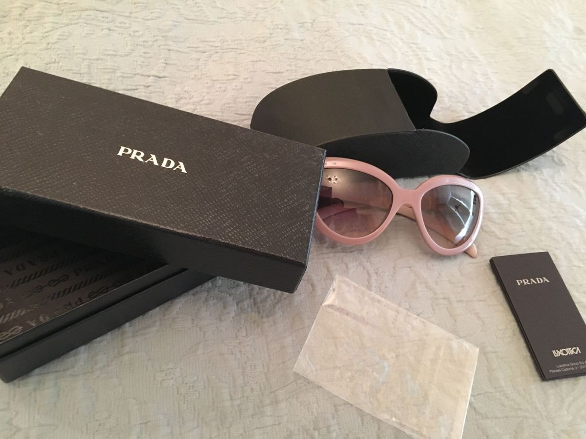Óculos de Gatinho Rosa Prada Nova Coleção   Óculos Feminino Prada ... d05aebde4b