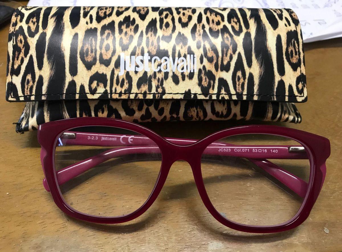 8600af8e94c09 Óculos de Grau Just Cavalli Rosa   Óculos Feminino Just Cavalli Usado  22154297   enjoei