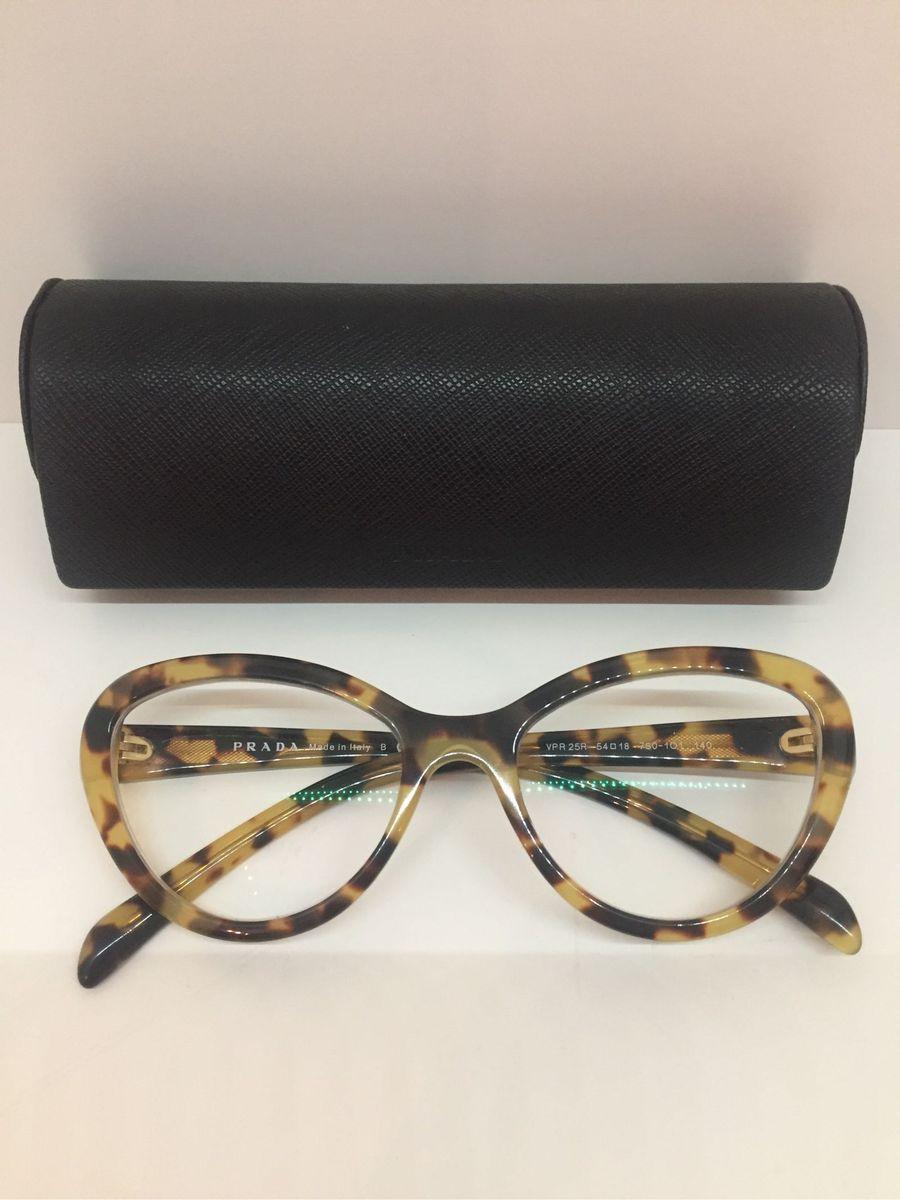 e67c65dd7 Óculos de Grau Prada Tartaruga Gatinho | Óculos Feminino Prada Usado ...