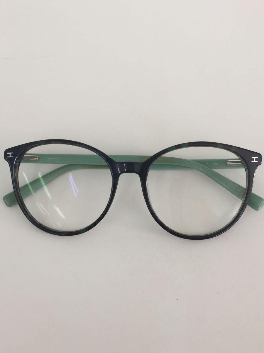 d1e37dcfcfa37 óculos de grau tartaruga escuro redondo com hastes verdes - óculos hickman