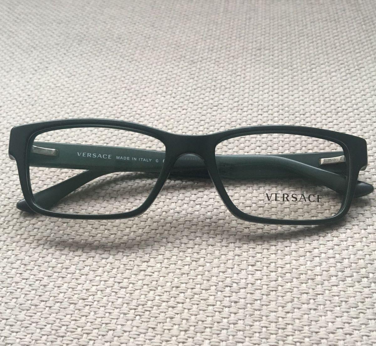 Óculos de Grau Versace Verde Oliva   Óculos Feminino Versace Nunca ... 72eed59bb7