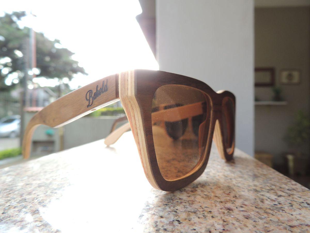 7e46e10116d32 Óculos de Madeira  square    Óculos Masculino Behold Nunca Usado 20511993    enjoei