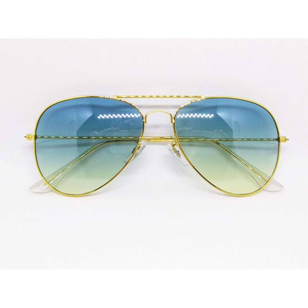 c09d4c0b2 Óculos de Sol Aviador com Lente Degrade Azul e Verde Claro | Óculos  Feminino Lecoleto Nunca Usado 29044158 | enjoei