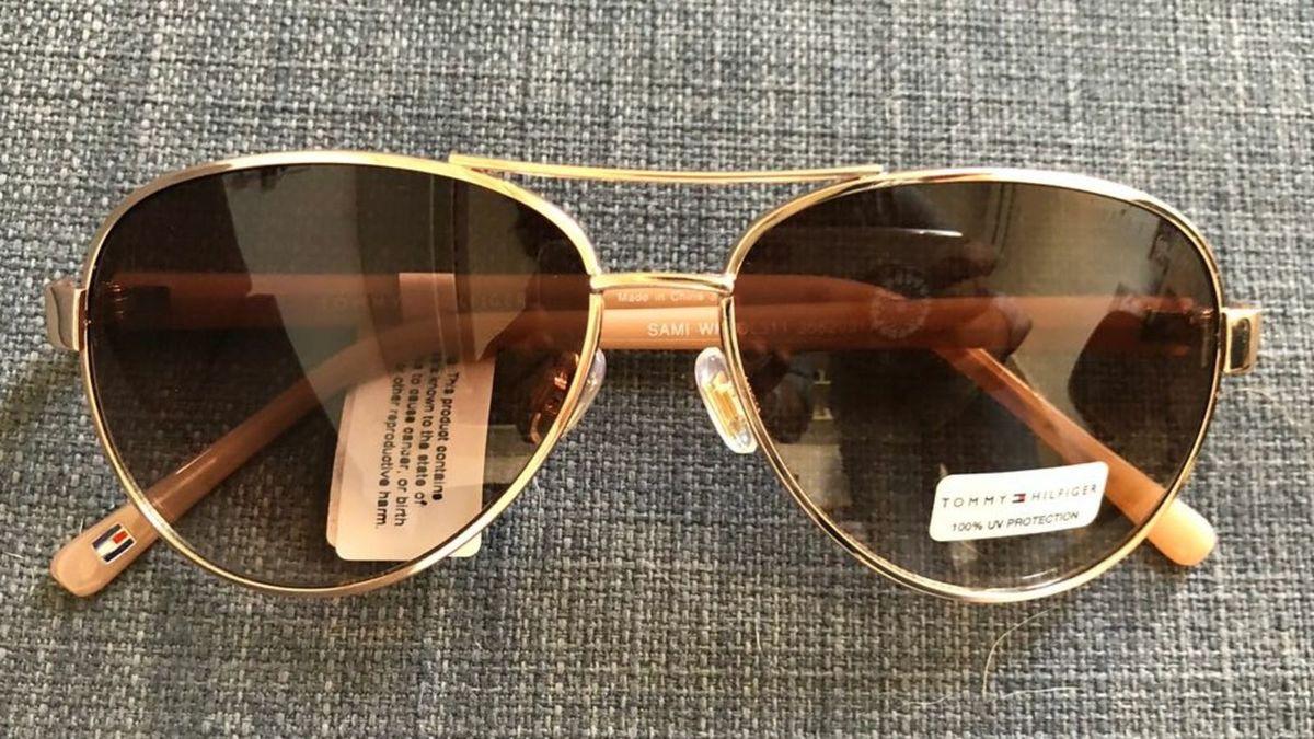 160a7d071 Oculos de Sol Aviador Tommy   Óculos Feminino Tommy Hilfiger Nunca ...
