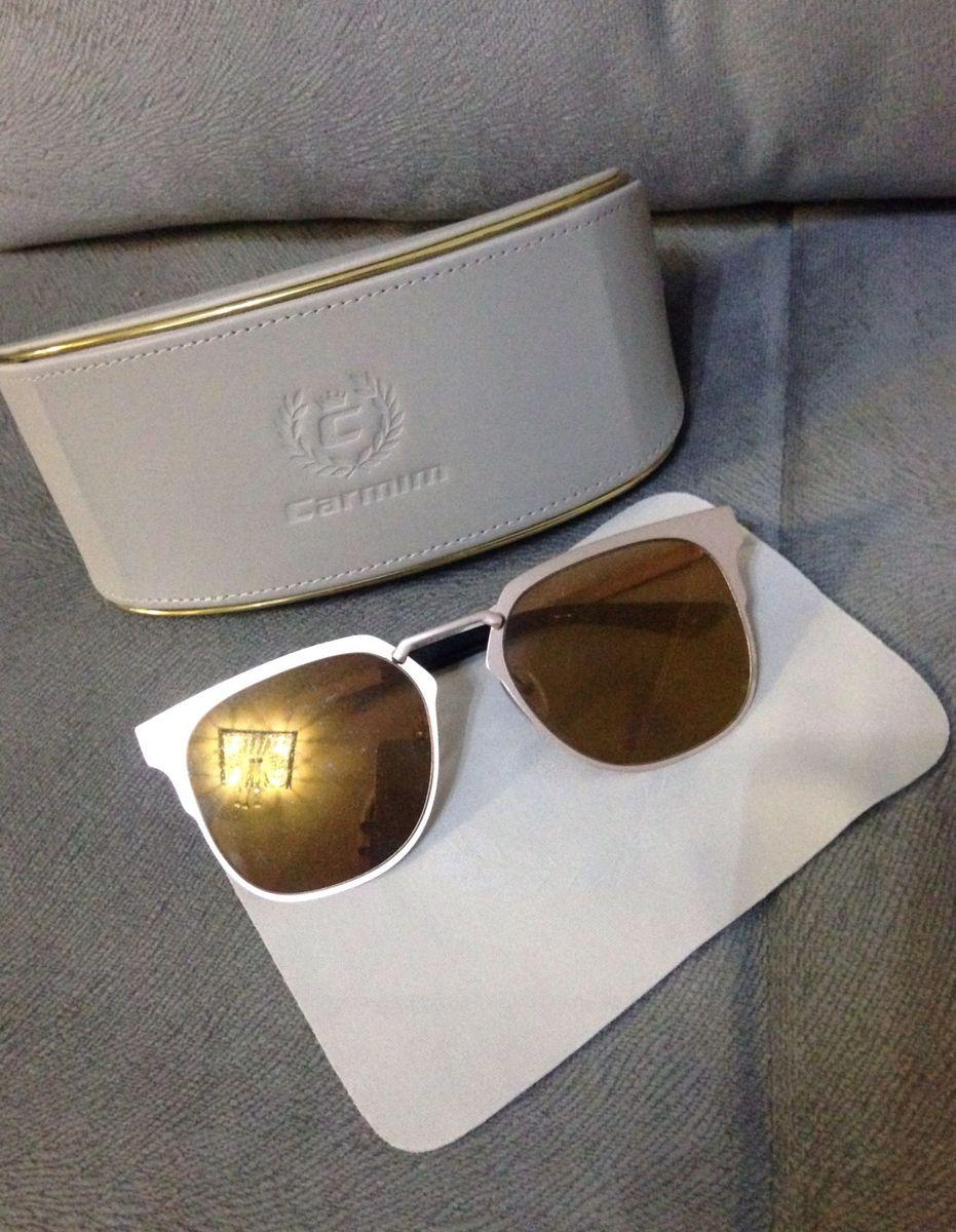 fb204581b431b óculos de sol carmim original dourado espelhado - óculos carmim