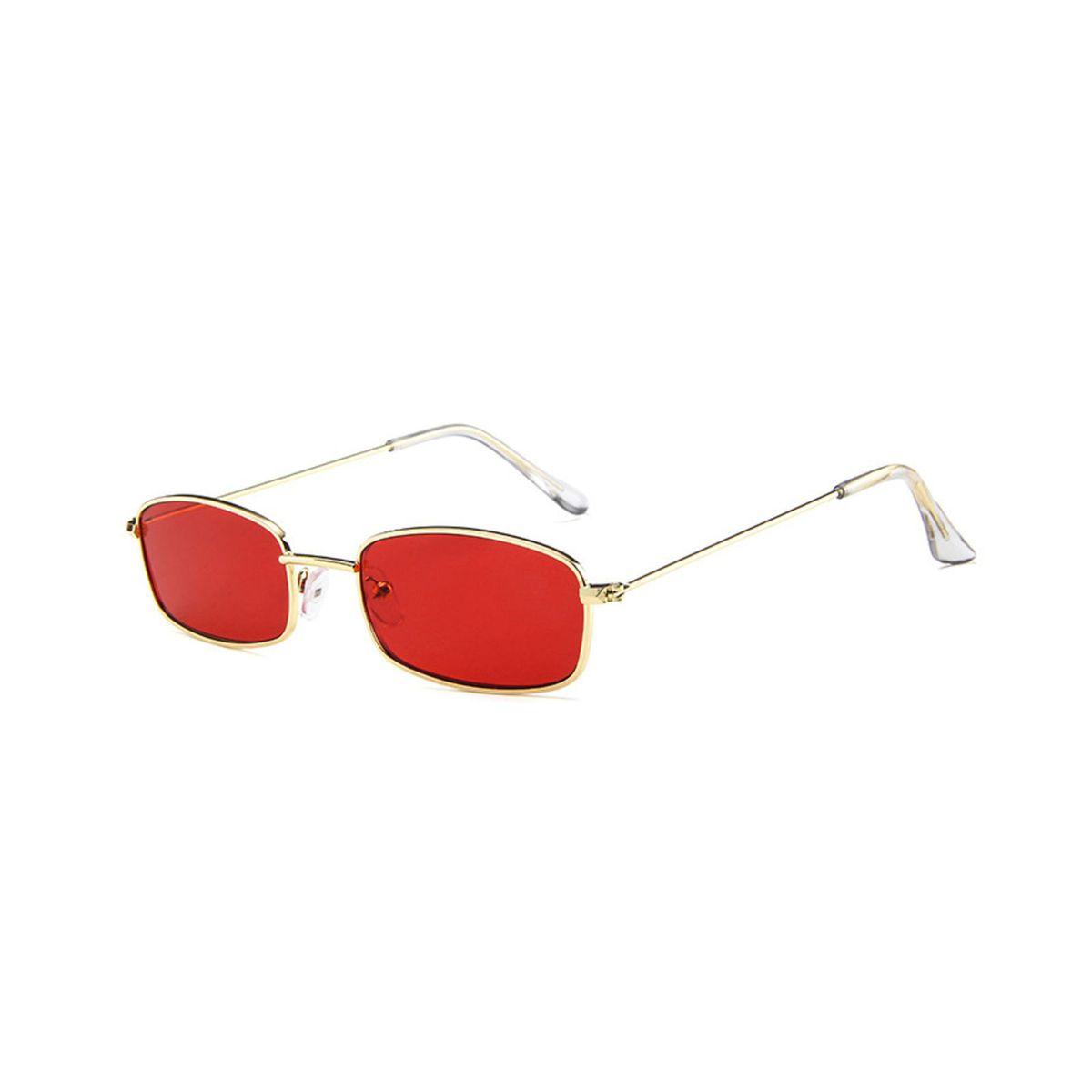 9bfc37d3b Óculos de Sol Carty 😎 Retangular Vintage Retrô Metal Vermelho | Óculos  Feminino Nunca Usado 30722497 | enjoei