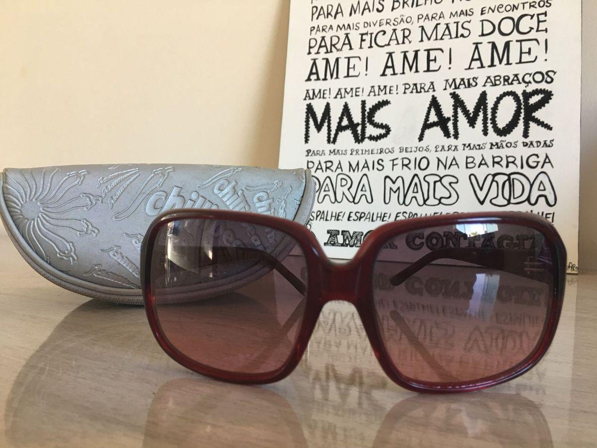 26e9637e9 Óculos de Sol Chilli Beans Vinho | Óculos Feminino Chilli Beans ...