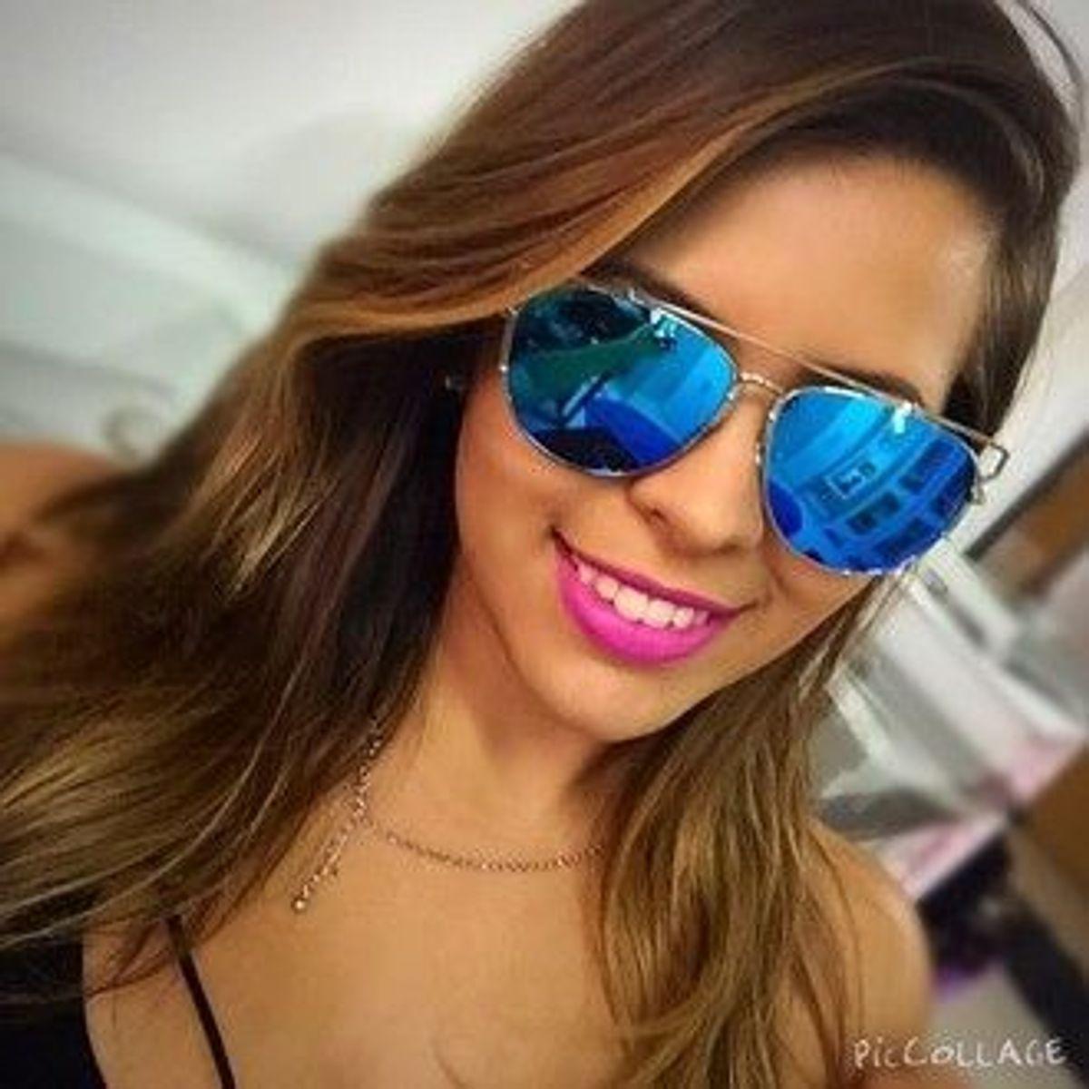 9d88bdb6a Óculos de Sol Espelhado Azul | Óculos Feminino Om Sunglasses Nunca Usado  31646371 | enjoei