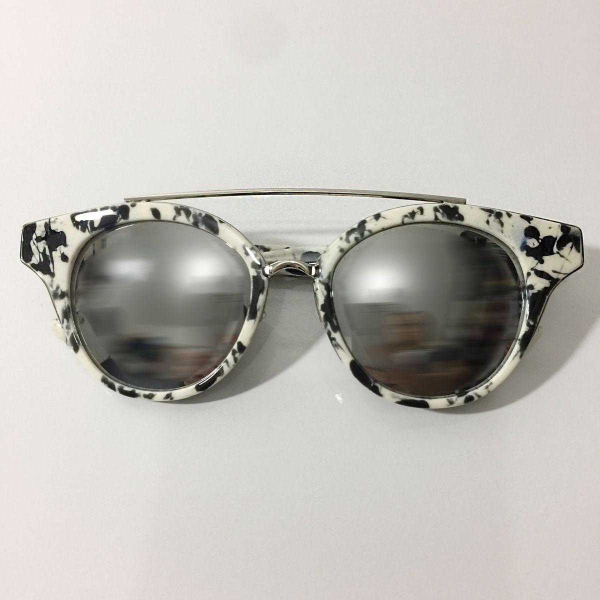 Óculos de Sol Espelhado Marmorizado Bamm   Óculos Feminino Bamm ... ff6592c843