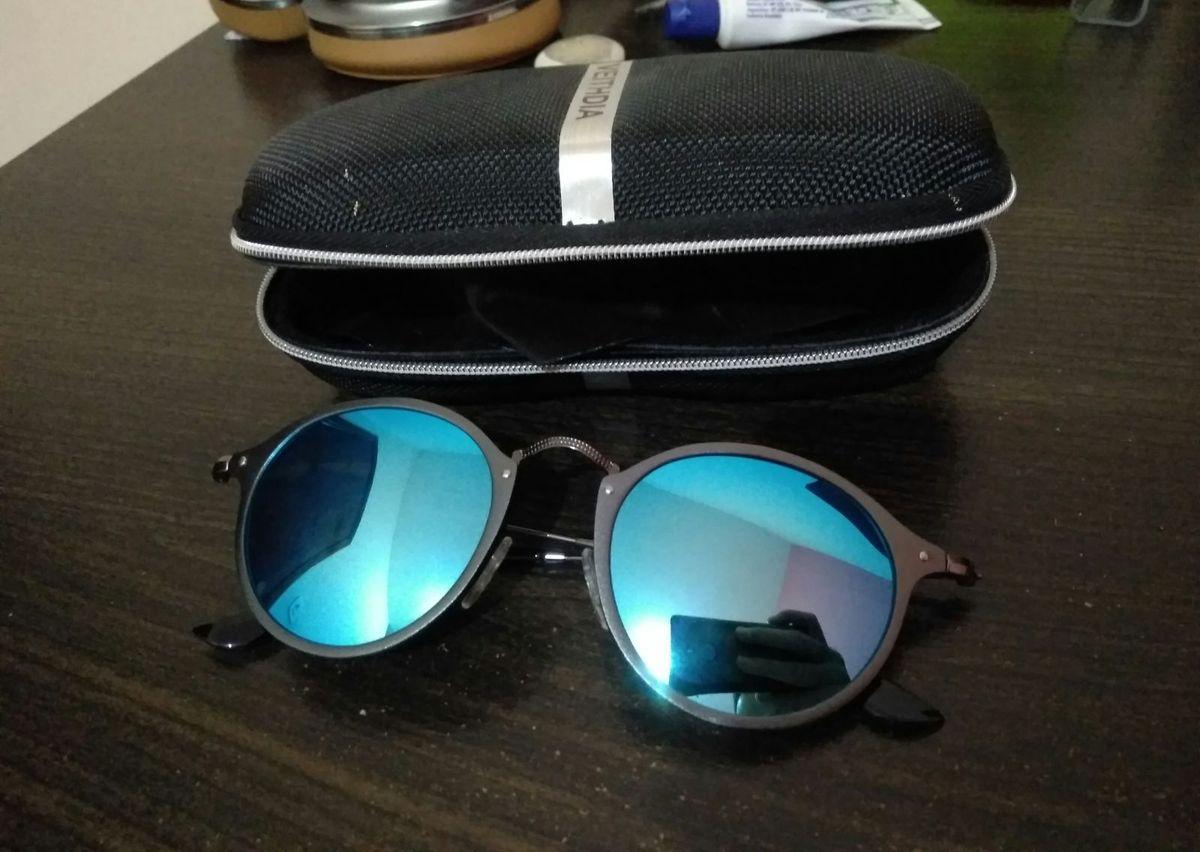 Óculos de Sol Espelhado Veithdia Azul Polarizado   Óculos Masculino ... 4c6092d23e