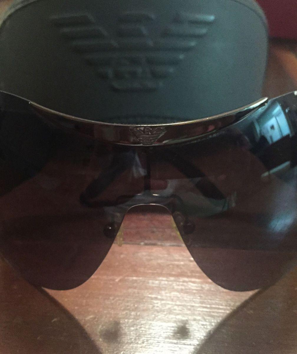 Óculos de Sol Estilo Mascara   Óculos Masculino Empório Armani Usado ... fbbe8e08d0