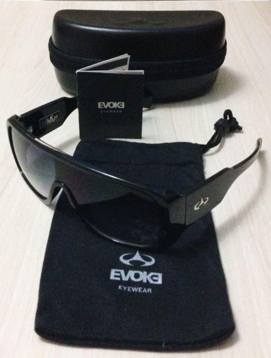 óculos de sol - evoke amplifier black shine  gray degradê - óculos evoke 5772258912