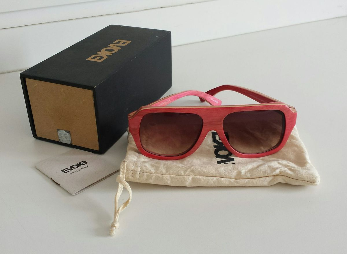 63ca6010b Óculos de Sol Evoke Maple Wood Series 01 Rosa | Óculos Feminino ...