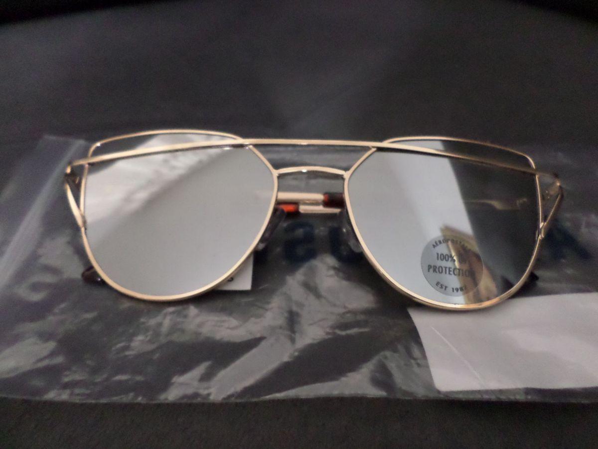 2264209097b5b Óculos de Sol Feminino Aeropostale Original Dourado   Óculos Feminino  Aeropostale Nunca Usado 24899854   enjoei