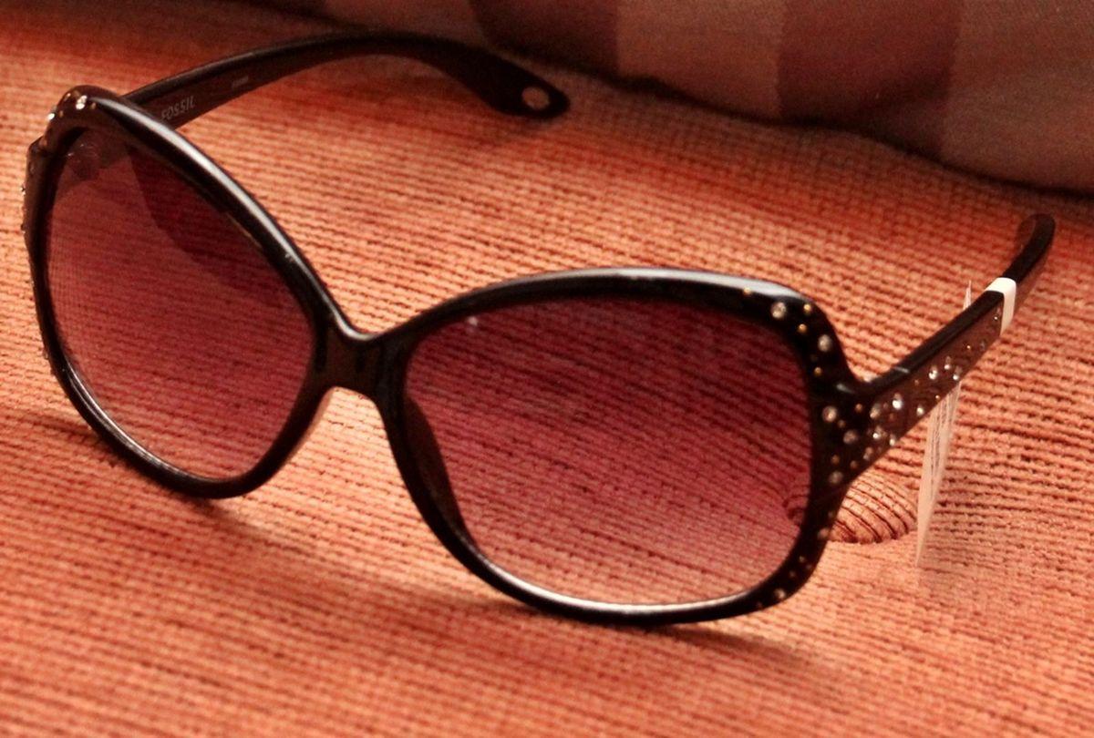Óculos de Sol Feminino Fossil Oval Classico   Óculos Feminino Fossil Nunca  Usado 2193713   enjoei 873e6345fc