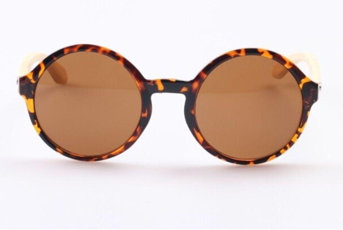 Óculos de Sol Feminino Redondo Bamboo Eyewear   Óculos Feminino Nunca Usado  2686715   enjoei 295dc2de3f