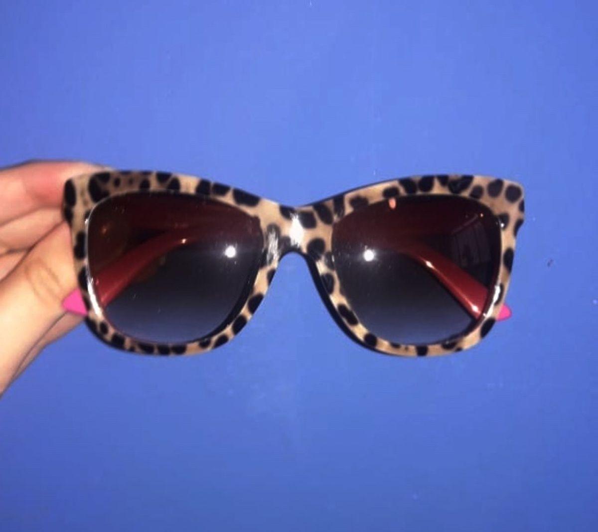 a6a8a840d óculos de sol - gatinho de onça - dolce gabbana - 100% original - óculos