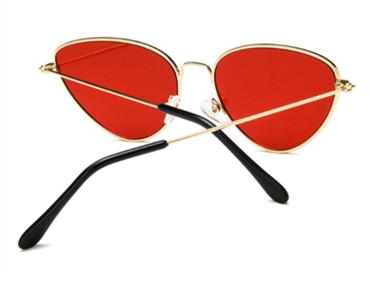 Óculos de Sol Gatinho Lente Vermelha   Óculos Feminino Nunca Usado 28599925    enjoei 15a68a5d35