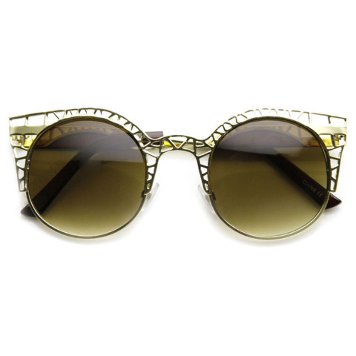 9686e856be5e1 Óculos de Sol Gatinho Redondo